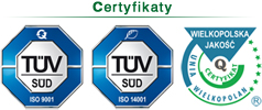 Certyfikaty ZUO Clean